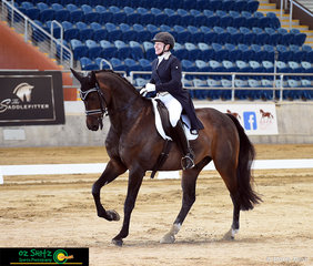 Winners are grinners Ricky McMillan and Diamond Dreamer TLF rode a great test to take out first place in the Open Prix St George on Friday in the Indoor Arena at the Queensland State Equestrian Centre.