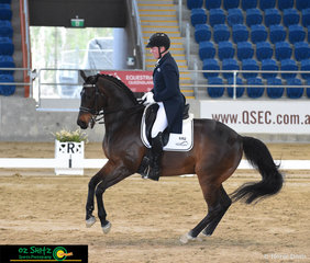 Oz Shotz sponsored rider Alistair Schramm rode his faithful thoroughbred gelding Zero Degrees to a respectable 8th place with a score of 63% in the Open Prix St George on the first day of competition.
