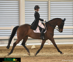 Sarah Honeywell rode Kalimna Renoir with elegance in the Open Advanced test on the final day of the Queensland State Dressage Championships.