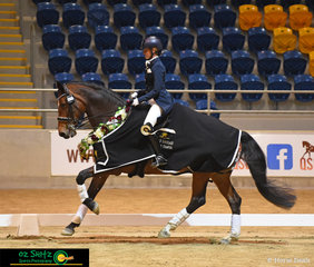 After a successful two days of competition, Emma Flavelle-Watts and Cabaret C canter away after their win in the Medium Tour.