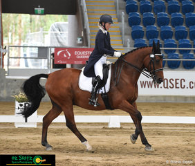 Claire Wallace rides Lincoln Lord Astor in the Grand Prix Special, the final class of the 2018 Queensland State Dressage Championships.