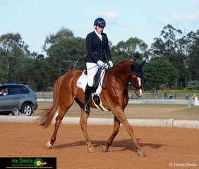 First combination out in the Adult Amateur Owner Rider Novice 2.2 was Kirsten Costelloe and Remi Lone Ranger on Saturday morning in the outdoor arena.