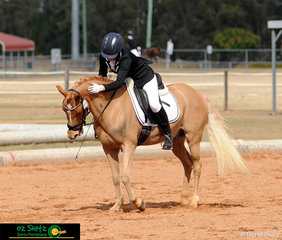 Big Pats for Benjamin Button Esquire a 7 year old 13.2hh Australian Riding Pony from his owner Jade Wilkinson in the Open Novice 2.2