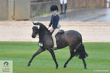 S and A Bowen's charming, 'Barindale Silhouette' won the class for Novice Pony N/E 12hh.
