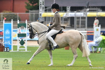 Jamie-Lea Bruggemann's, 'Torlyn Parade' took second place in the class for Novice Show Hunter Pony 12.2-13hh.
