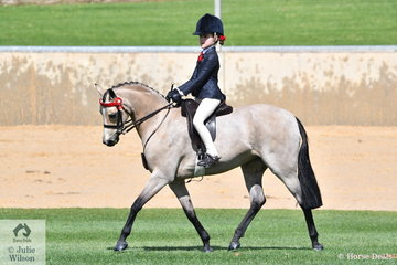 Young South Australian rider, Tiana Schaefer rode Claire Schaefer's, 'Farleigh Athina' to win the class for Novice Pony 12-12.2hh.