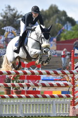 Nicole Bruggemann from Gawler in SA is pictured aboard, 'White Wash' during the Part 2 One Round class today.