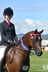 Ebonie Lee is having a successful first day at the 2018 Adelaide Royal Show. She is pictured aboard Cassandra Fasan's , 'Kyandra Picturesque' that won the class for Novice Pony 12.2-13hh.