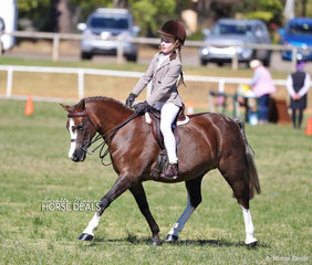 "Amarni Rodham and ""Glenyarra Park Classic""  were the winners of the Show Hunter Pony not exceeding 11.2hh class."