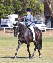 "Ella Bourke rode ""MP Too Easy"" to win Champion Show Hunter Galloway."