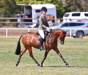 "Champion Small Pony ""Braeburn Park Spring Dance"" and Trinette Crawford. They went on to win Supreme Saddle Horse of the Show."