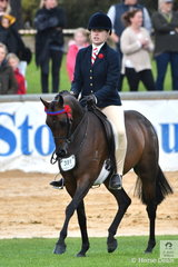 Sabrina Jaeschke rode Delia Fogden's lovely Novice 13-13.2hh winner, 'Rosette Queen of Sefton by Dresden Ace of Spades to claim the Maitland Family and Pankarra Foods Best Novice Pony award.