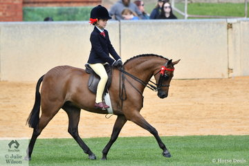 Annabell Richardson rode the Richardson and Ginn nomination, the well performed, 'Harrington Park Symphony' to win the class for Open Pony 12-12.2hh.