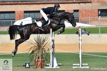 Brook Dobbin rode Wendy Keddell's, 'Gina MVNZ' to take third place in the Part 2 jump off class today.