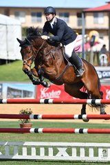 Professional ACT jumping rider and coach, Stephen Dingwall rode his Baloubet Du Rouet gelding, 'Cavalier du Rouet' to take  second place in the hotly contested Part 2 jump off class today.