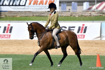 Tahlia Young rode the Richardson and Ginn nomination, 'Mandalay Choir Master' to win the class for Lightweight Show Hunter N/E 12.2hh.