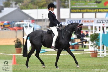 Renae Dorney was one of the many victims of the measurer this year, but it all ended well. She rode her, 'Nottingham Love Song'  (entered in the 13.2-14hh class) to win thee class for Open Pony 13-13.2hh.