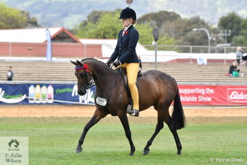 Sabrina Jaeschke rode her mother, Delia Fogden's Best Novice Pony, 'Rosette Queen of Hearts' to take second place in the class for Open Pony 13.13.2hh.