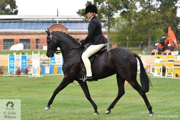 Lynda Hayes rode her own and Vicki Pisciotta's nomination, 'Wideacre Black Diamond' to take third place in the class for Open Pony 13-13.2hh.