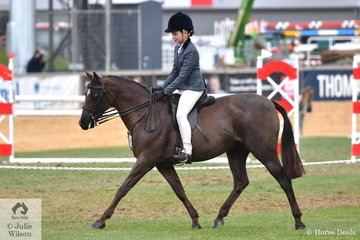 Madison Drohan rode her, 'Hillgrove Spring Melody' to fourth place in the class for Open Show Hunter Pony 13-13.2hh.
