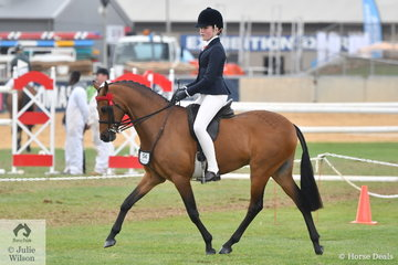 Ella O'Doherty won the class for Girl/Boy Rider 12-14 Years and today was declared Reserve Champion Junior Rider.