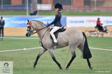 Tiana Schaefer has had a busy and successful show including winning the class for Girl/Boy Rider 8-10 Years. She is pictured during the Junior Rider Championship ride off.