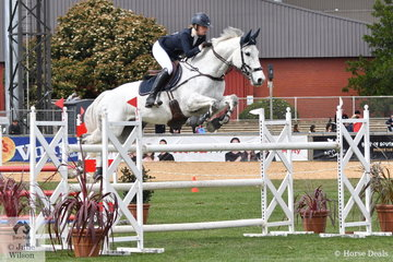 Tori Stuckey from Vitoria is pictured aboard her, 'Finch Farm Cab Sav' during the Part 2 One Round class.