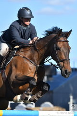 Mount Gambier showjumping legend, Kristy Bruhn rode her, 'Jack' to take second place in the John and Rae Brice Grand Prix today.