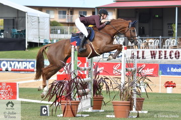 Nicole Bruggemann is having a good show with Regina Buchanan super, 'Diamond B Centurian' that took second place in the Part 3 class this morning. Nicole was declared Most Successful SA Rider.