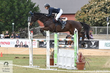 All the way from Queensland, Chloe Hughes rode her Thoroughbred, 'Watermark Farm Oz' to take fourth place in the Part 2 jump off class.