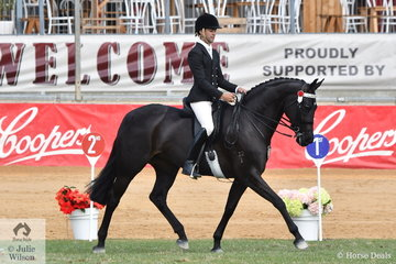 Ty Zoontjens rode Tonia Scaife's, 'DS Tulara Fursandro' to take second place in the class for Open Hack 15-15.2hh.