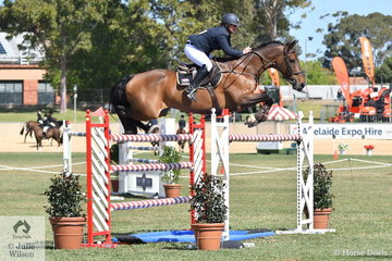 Kristy Bruhn from Mount Gambier rode Jack to post one of only three clears in the first round of the Princess Royal Station World Cup Qualifying Round. Four faults in the second round placed them third overall.