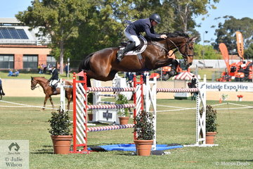 Nelson Smyth from Queensland was pleased to complete his first World Cup class riding Laurel Glen Lucky Time with just eight faults.
