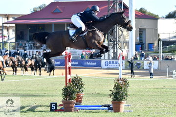 Katie Clarke from the Western District in Victoria, was thrilled to jump two four fault rounds aboard Oaks Gunn for eighth place in the Princess Royal Station World Cup Qualifying Round.