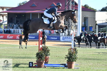James Harvey from the Yarry Valley in Victoria rode Des Russell's, Tyrone VDL to jump four and four faults for sixth place in the Princess Royal Station World Cup Qualifying Round.