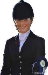 Georgie Kellock won the class for Lady Rider 21-30 Years.