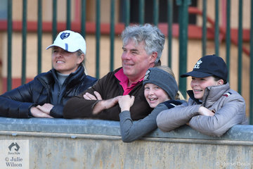 The Plumb Family, Heidi, Dale, Poppi and Daizi, enjoying their time at the show.