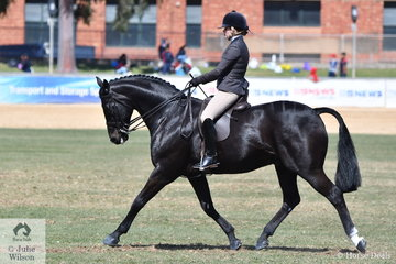 Georgia Grenwell rode her, 'Rorsdom' to second place in the class for Heavyweight Show Hunter.