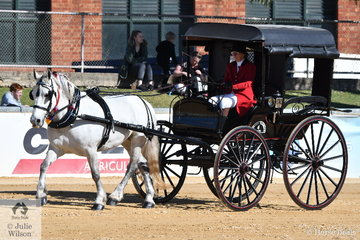 Christine Hastings drove her own and Trevor Hastings', 'Ludi' to take out the Champion Delivery Horse award.