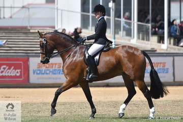Madelon McDonald won the class for Lady Rider 18-21 Years and is pictured during the Lady Rider Championship ride off.