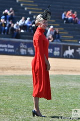 Fashions Off The Field indeed. Today the judges would have been in serious contention. Intermediate and Senior Rider judge, Lisa Jones from Queensland was eye catching and elegant whilst judging the Lady Rider Championship.
