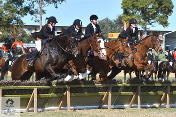 The Fleurieu Hunt Club number one team consisting of, Mary Crosby, Kareen Hotson, Romain Fathi and Jessica Searle took fourth place in the Section 4s on the last day of the 2018 Adelaide Royal Show.
