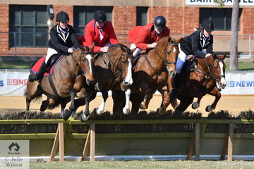 The Penola Hunt Club team of , Brittany Francis, Josh Slope, Stuart Bartlett and Chloe Kennedy-Jones took third place in the Section 4s on the final morning of the 2018 Adelaide Royal Show.