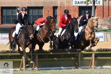 The Vivien Fuller/Strathalbyn Hunt club team comprising, Vivien Fuller, Tara Fuller, Neil Iluinne and  Todd Balfour took fifth place in the Section 4s.