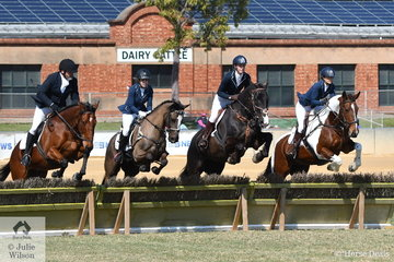 The Fleurieu Hunt Club Team of, Peter Vandyk, Shauna Anderson, Chrissy Greer and Lyndsay Jessup produced the winning performance to win the Section 4s.