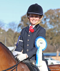 The LES FRIEND RIDING ACADEMY Champion rider 9 and under 12 years - Elka Petersen.