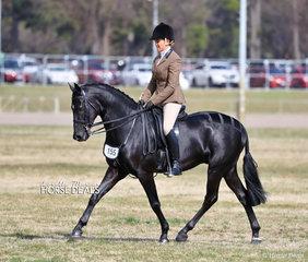 "The RAFFERTY HORSE RUGS Champion Small Show Hunter Galloway ""Kingsfield Arlington"" and Sallie Slater."