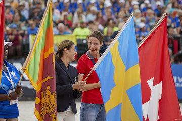 Tinne Vilhemson- Silfvén  - Sweden, Dressage and  Patricia Attinger Switzerland Eventing