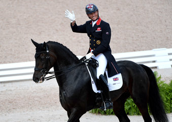 Carl Hester of Great Britain and Hawkins Delicato.Photo FEI/ Martin Dokoupil