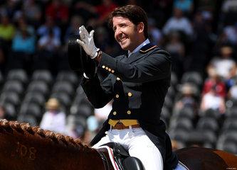 Dressage Rider Claudio Castilla Ruiz of Spain on Alcaide at the FEI World Equestrian Games... Tryon USA.Photo FEI/Martin Dokoupil